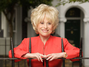 Babs Windsor: After freeing herself from these railings, rushed straight to see good chum Biggins!