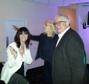 Michelle Collins and Allo Allo's Vicki Michelle live it up with Biggins at the after show panto party!