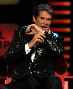 The Hoff quite literally has no idea what anyone is saying...