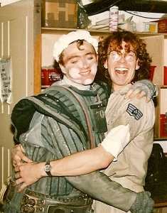 Backstage on Starlight Express with Dustin (Gary Love)