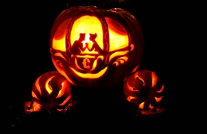 A right royal midnight affair...the princess of pumpkins.