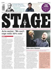 Mark's regular contributions make The Stage a must read for the Theatre Industry
