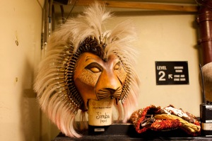 Backstage photography at Disney's The Lion King in London [Helen Maybanks]