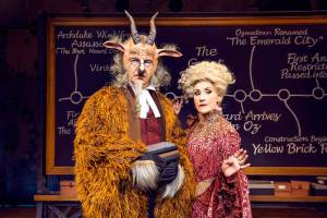 Shiz University's Horrible Morrible and Dr Dillamond: Image courtesy of wickedthemusical.co.uk
