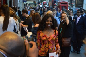 Sinitta - the press pounce before the partying gets wild!