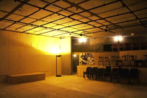 The Bunker: a 110 seat auditorium, bar space, and dressing rooms