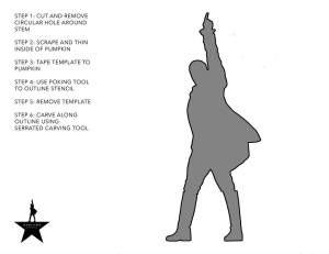 1. Right click and save image to your computer 2. Open the file and print 3. Carve your #HamiLantern
