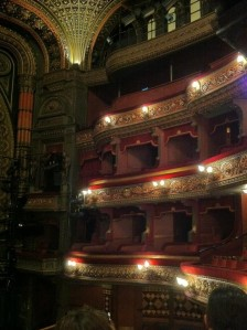 Leeds Grand: Box F has it's own Phantom of the Opera