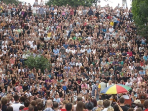 The always popular Bearpit Karaoke at Mauer Park on Sunday afternoons – The happiest place to be in Berlin
