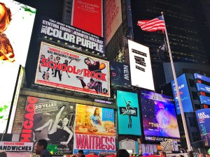 Times Square - Broadway shows don't come cheap, so save your dollars where you can!