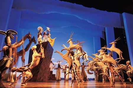 Production still from Disney's The Lion King
