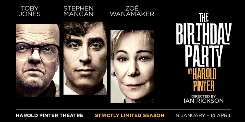 Stephen Mangan, Toby Jones & Zoë Wanamaker to star in The Birthday Party