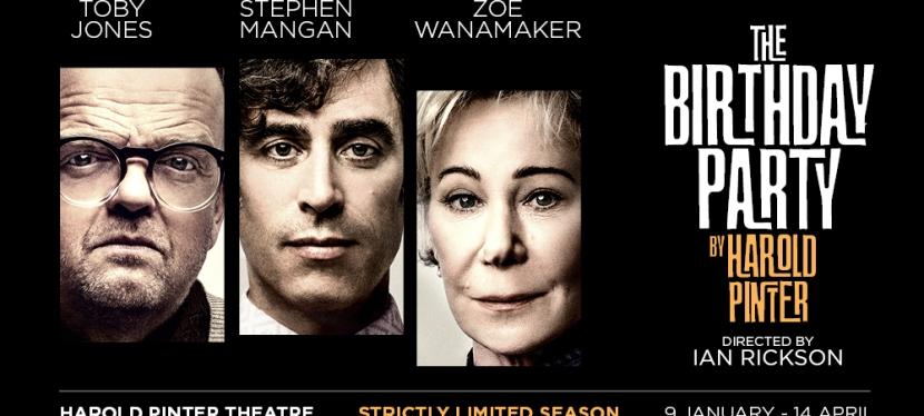 Stephen Mangan, Toby Jones & Zoë Wanamaker to star in The BirthdayParty