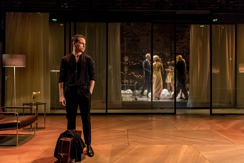 Scene from Almeida West End production of 'Hamlet' with Andrew Scott