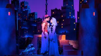 Scene from Disney's 'Aladdin' musical London