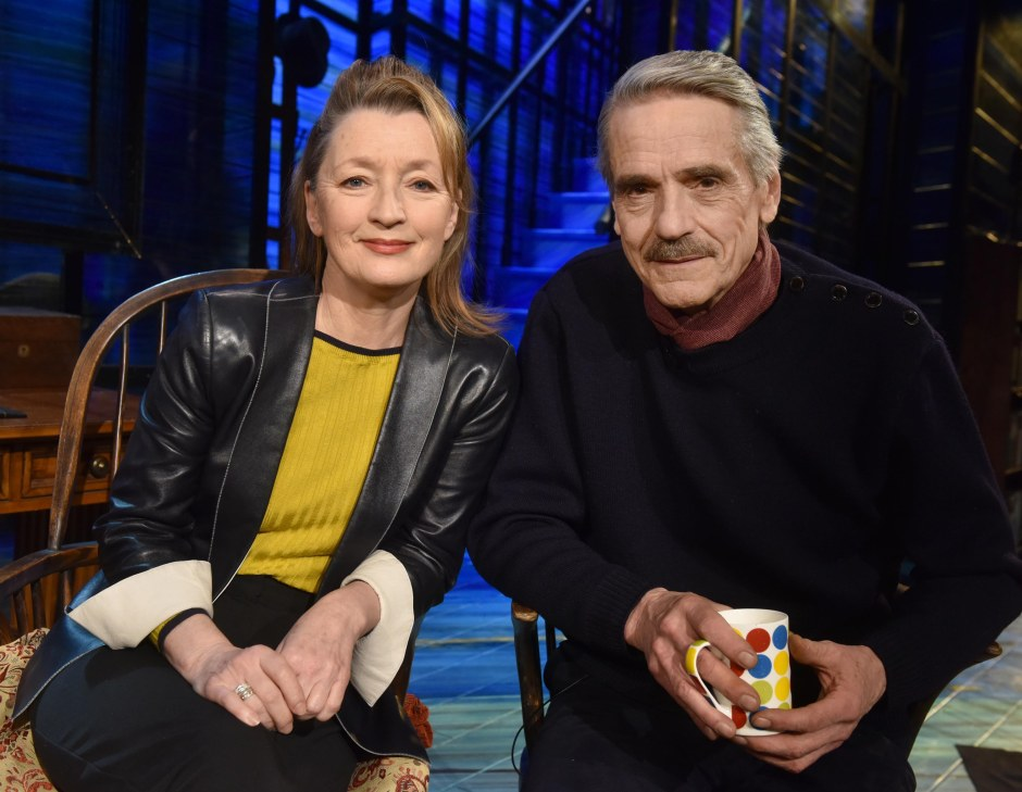 photo of Lesley Manville and Jeremy Irons