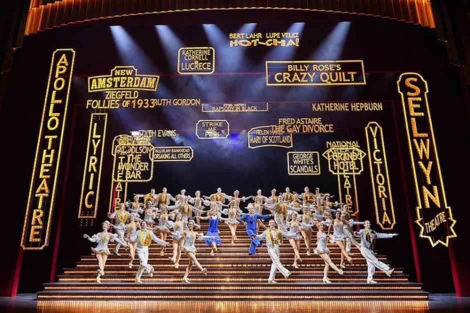 Production shot from '42nd Street' London