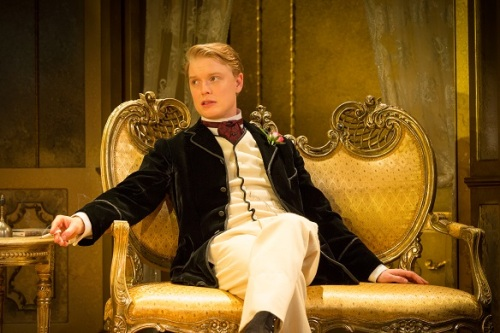 Freddie Fox playing Lord Goring in Oscar Wilde's An Ideal Husband at the Vaudeville Theatre