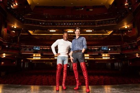 Simon-Anthony Rhoden and Oliver Tompsett in Kinky Boots London