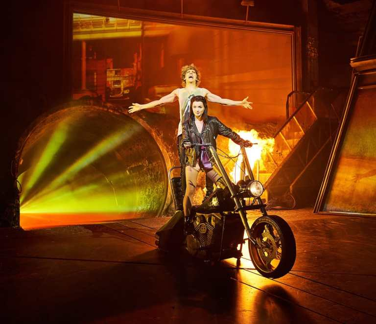 Production still from Bat Out of Hell London