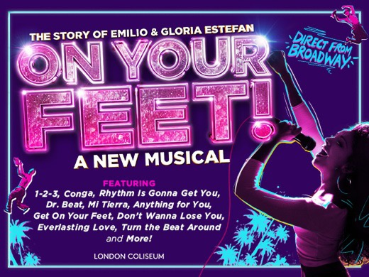 On Your Feet musical banner