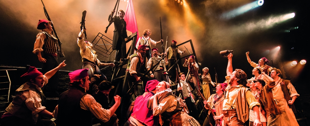 Les Miserables London barricade