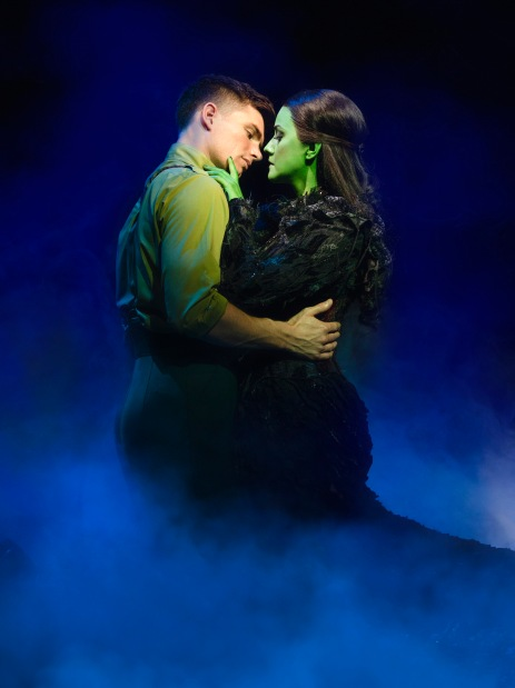 Wicked now playing at the Apollo Victoria Theatre