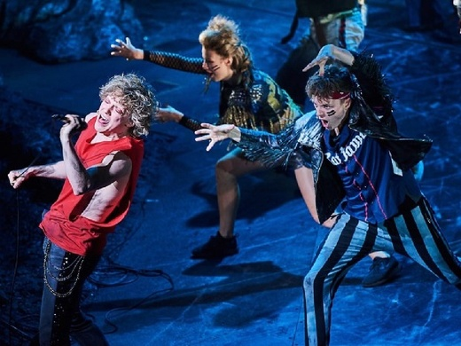 Production still from Bat Out of Hell musical