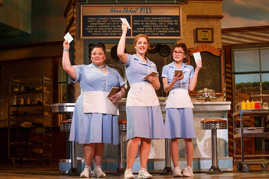 Production still from Waitress Broadway