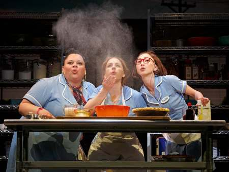 Production still from Waitress on Broadway