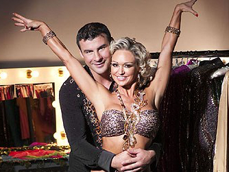 Joe Calzaghe and dance partner Kristina