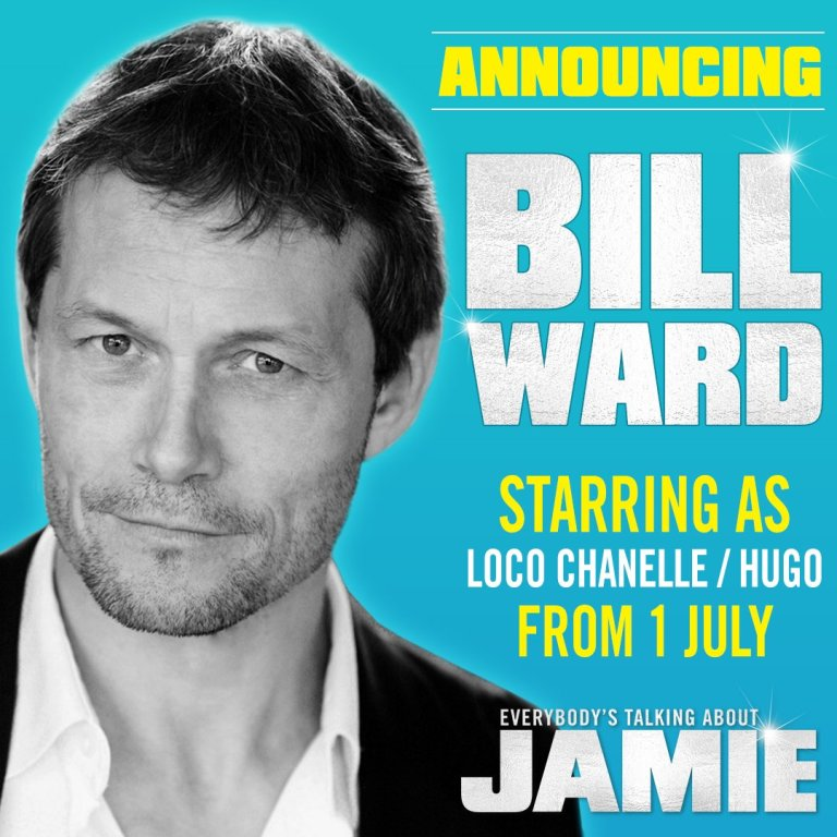 Bill Ward in Everybody's Talking About Jamie banner announcement