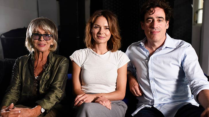 photo of Sue Johnston, Kara Tointon and Stephen Mangan in The Man in the White Suit
